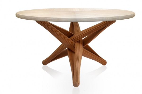 Lock bamboo table caramel natural 600x399 Beautiful Dinner Table Showcasing Ecologic Design