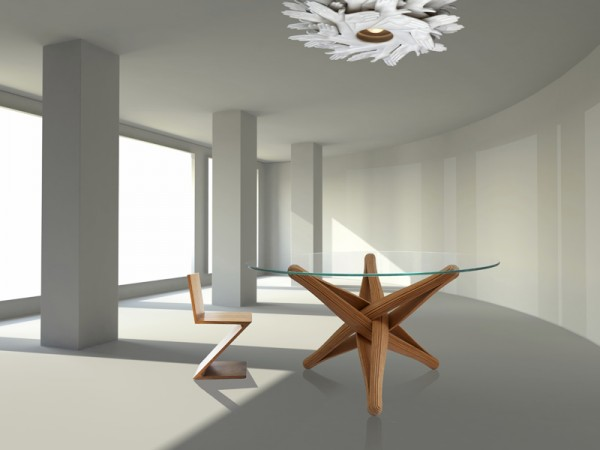 Lock dinner table 1 600x450 Beautiful Dinner Table Showcasing Ecologic Design