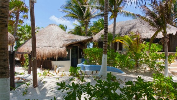 Mexican Carribean hotel 02 600x340 Eco Boutique Hotel in a Paradise of Unique Beauty