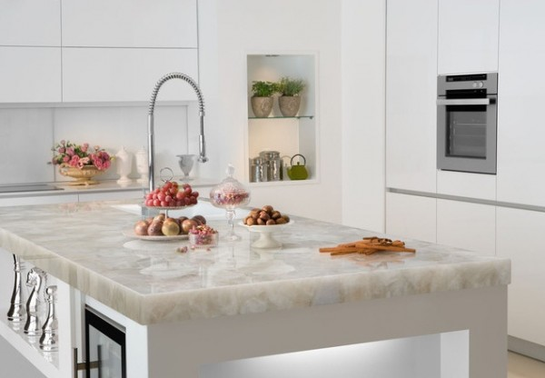 Modern countertops 600x416 7 Features to Create a Stylish Modern Kitchen