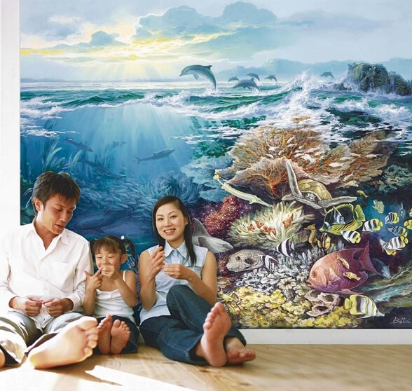 Murals for kids room Kids Room Wall Decorating Ideas