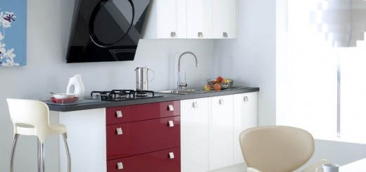 Red-accent-modern-kitchen