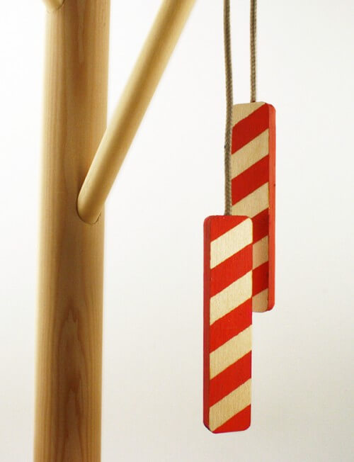 Red and white tree ornament Handmade Christmas Ornaments in Limited Edition