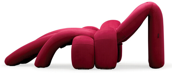 Red fanciful spider chair Creative Vibrant Lounge Design: Spider Phoebe