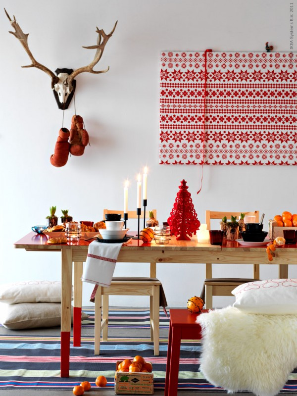 A scandinavian inspired christmas interior design design news and architec - Ikea decoration noel ...