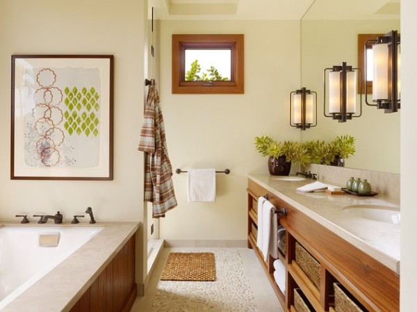 Tropical bathroom design 600x449 How to Choose Colors for a Bathroom