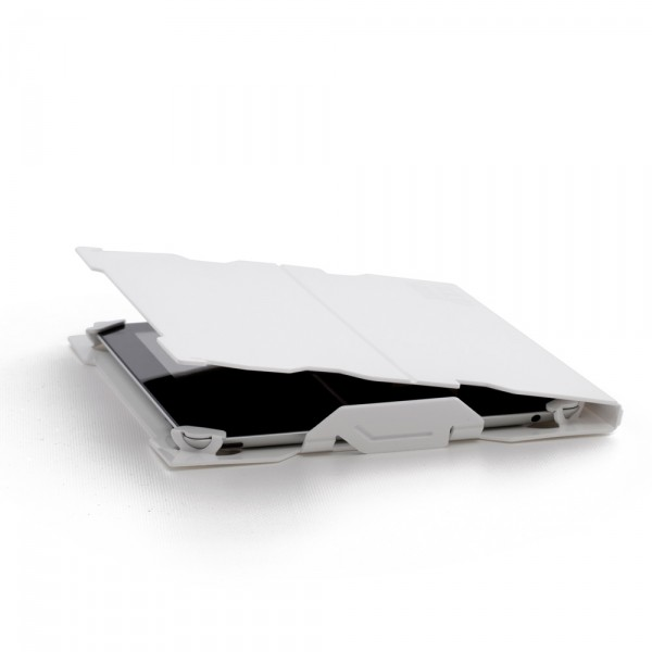 White tablet cover by Solid Gray 600x600 Smart iPad Tablet Cover