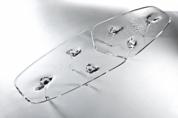 Aqua design table by Zaha Hadid 600x400 Original Liquid Glacial Table by Zaha Hadid Architects