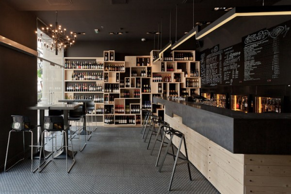 Bar concept interior design by Suto Interior Architects 05 600x400 Impressive Interior Design Showcased by DiVino Wine Bar in Budapest