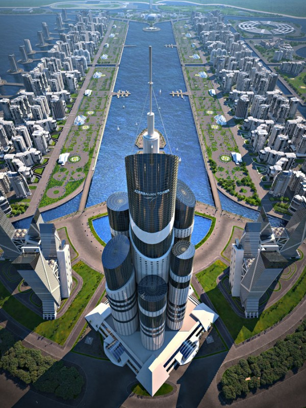 Biggest skyscraper in the world Azerbaijan 600x800 Azerbaijan Tower, the Next Tallest Building in the World Takes Shape