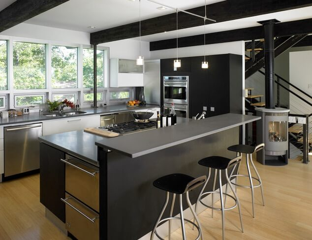 black kitchen design - Kitchen With An Island Design