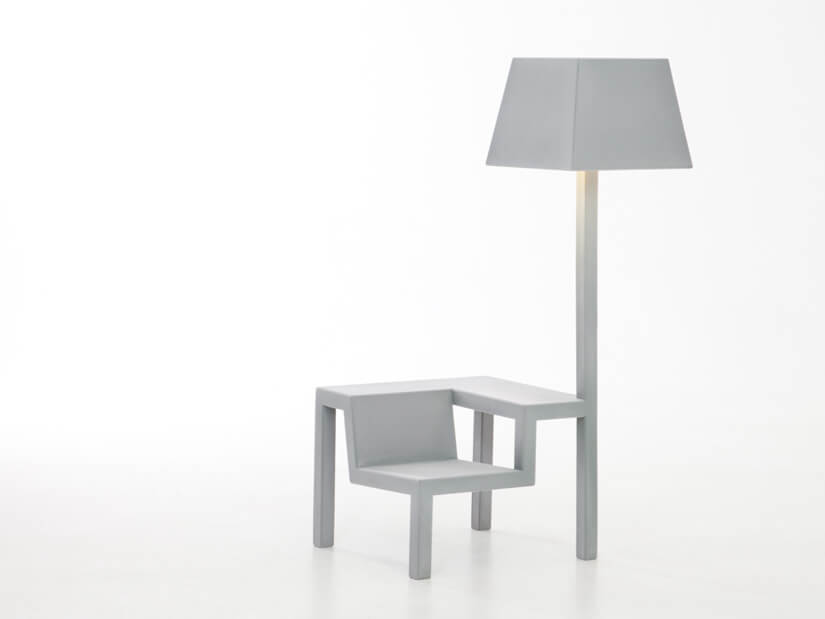 Creative grey chair with lamp 01 All in One Chair for Children by Frederik Roijé