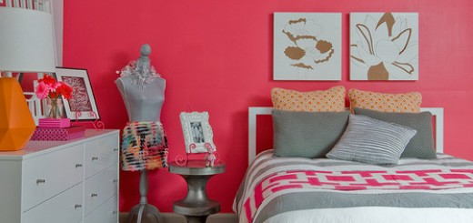 Eclectic-design-for-teenage-girl-bedroom