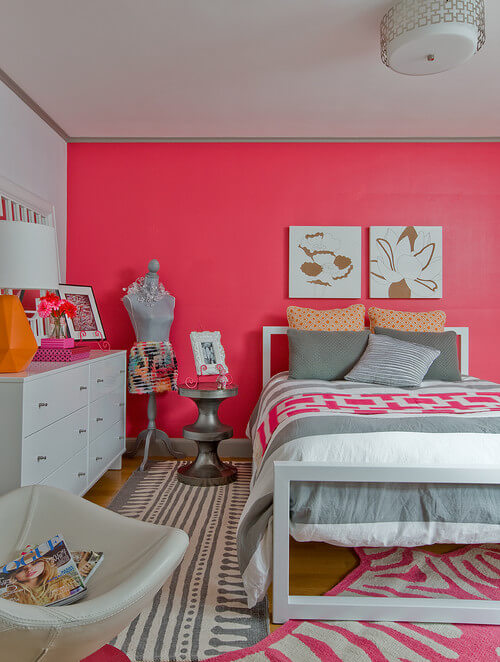 Eclectic design for teenage girl bedroom Stylish Teenage Girl Bedroom Ideas