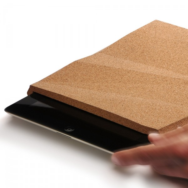 Faceted iPad cork case by Pomm 600x600 Ingenious Faceted Cork Case for iPad by Pomm