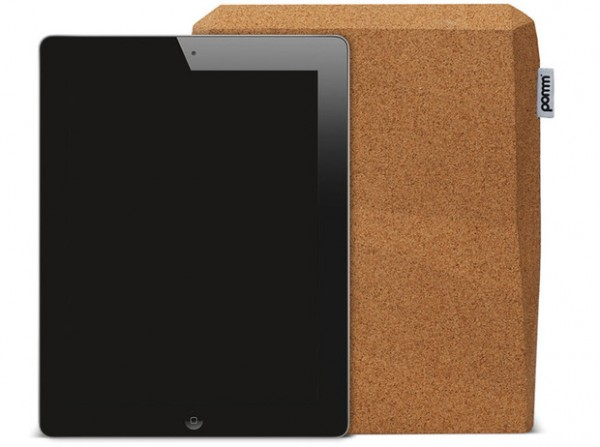 Green iPad case 600x447 Ingenious Faceted Cork Case for iPad by Pomm