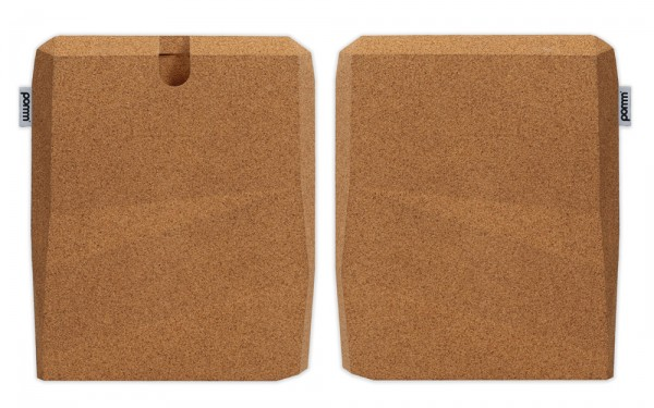 Green iPad case by Pomm 03 600x375 Ingenious Faceted Cork Case for iPad by Pomm