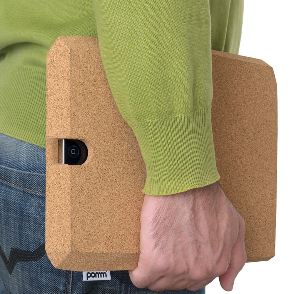 Ingenious Faceted Cork Case for iPad by Pomm