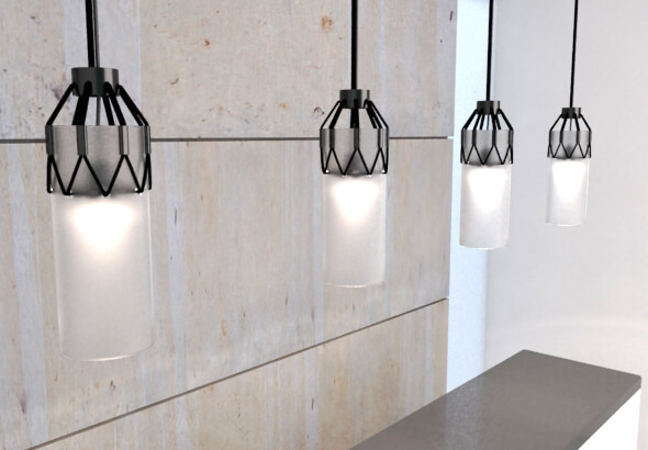 Group-of-blac-and-white-pendant-lamps
