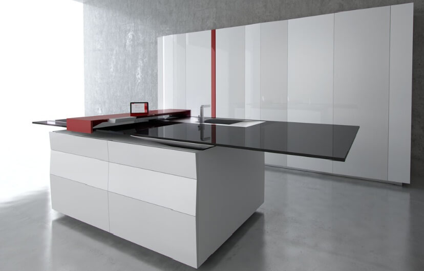 Prisma kitchen with advanced technology by Toncelli1 Exclusive Kitchen Space with High Tech Design