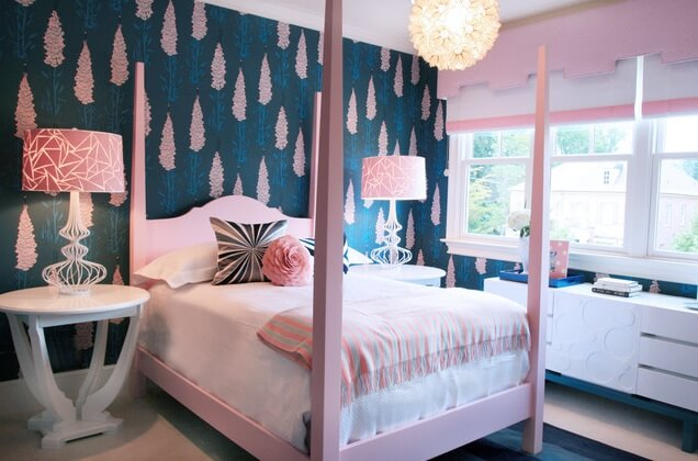 blue and pink teenage girl room Stylish Teenage Girl Bedroom Ideas