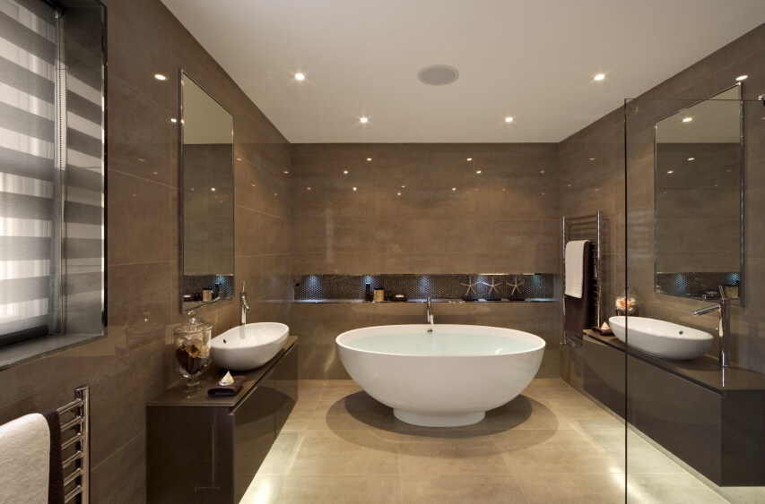 Pictures Of Modern Bathrooms Part - 23: Modern-design-of-bathroom