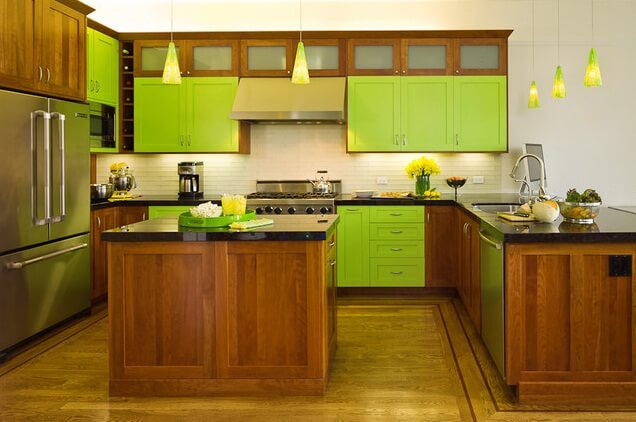 modern green kitchen island 13 Beautiful Kitchen Island Ideas