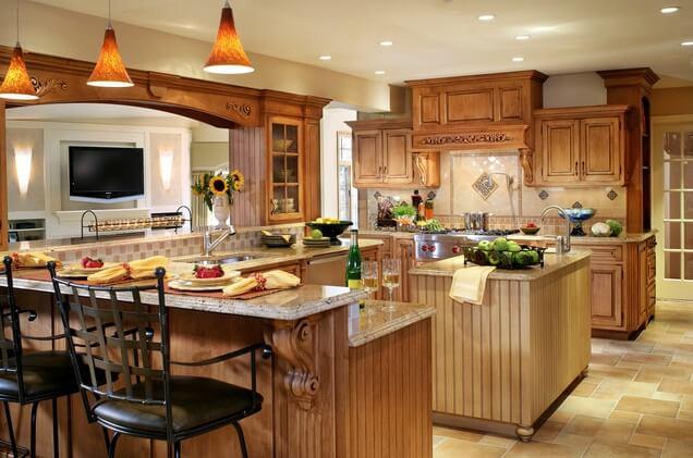 13 Beautiful Kitchen Island Ideas - Interior Design ... on Traditional Kitchen Decor  id=48585