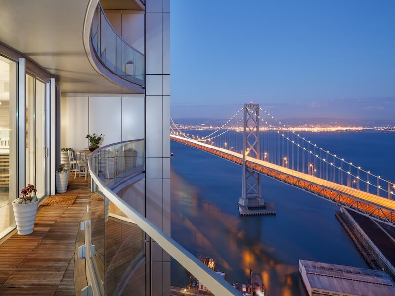 Balcony with Bay views Luxury Duplex Residence with Bay & City Views in San Francisco