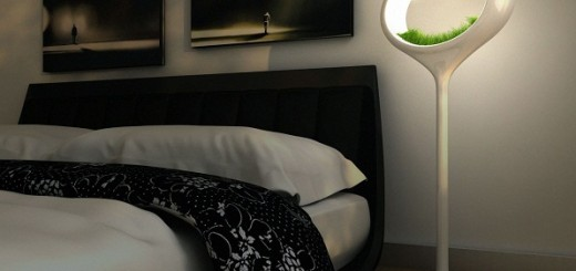 Bedroom-with-a-unique-lamp-design