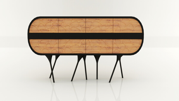 Cabinet with wood and corian by Andrei Otet Modern and Creative Cabinet Design for Original Interiors