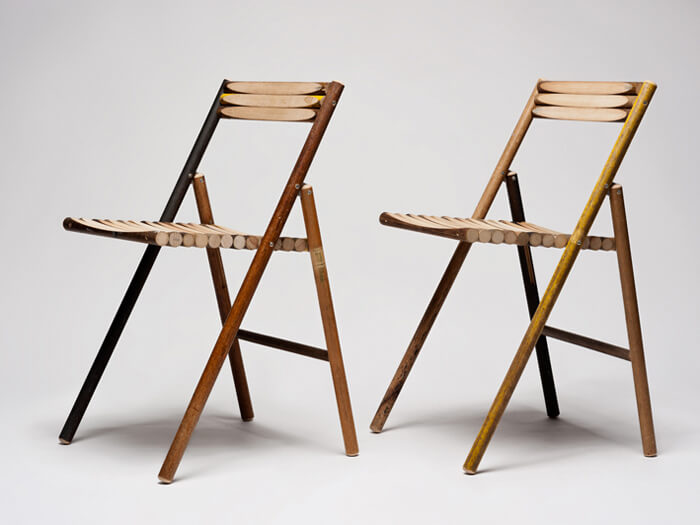 Steel Folding Chair With Original Rustic Appearance