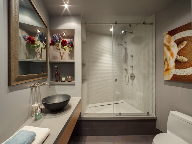 Contemporary bathroom style Luxury Duplex Residence with Bay & City Views in San Francisco