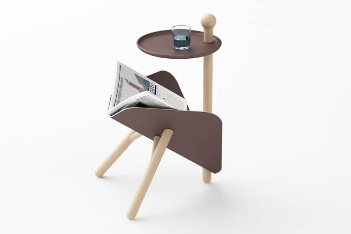 Creative magazine rack and coffee table Simple and Functional: Occasional Magazine Table