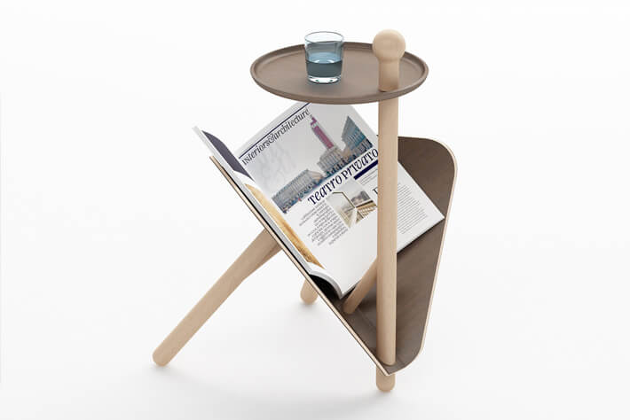 Creative magazine rack and table Simple and Functional: Occasional Magazine Table