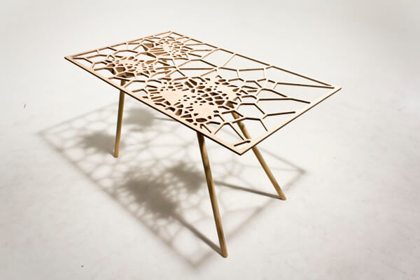 Creative table by Sam Stringleman 04 Original Table Design Displaying a Captivating Pattern
