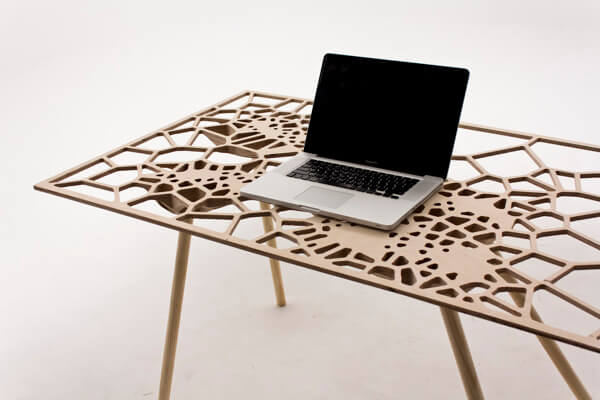Creative table by Sam Stringleman Original Table Design Displaying a Captivating Pattern