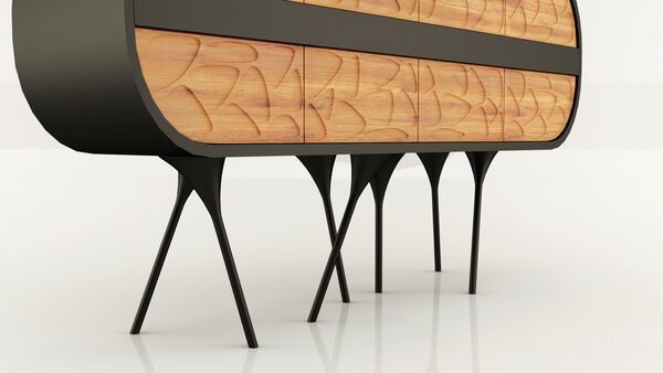 Creative walking cabinet by Andrei Otet Modern and Creative Cabinet Design for Original Interiors