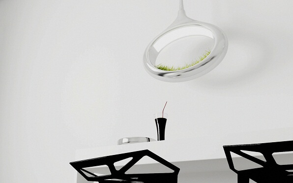 Hanging lamp with grass concept Innovative Lighting Concept: Grass Lamp by Marko Vuckovic