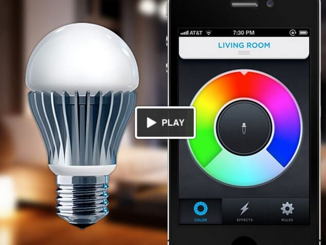 LED light bulb controlled by phone app LED Light Bulbs, a Revolution in the Lighting Industry