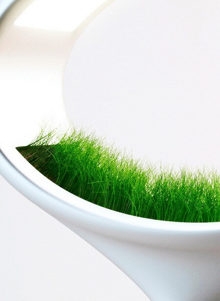 Lamp with grass by Marko Vuckovic1 Innovative Lighting Concept: Grass Lamp by Marko Vuckovic