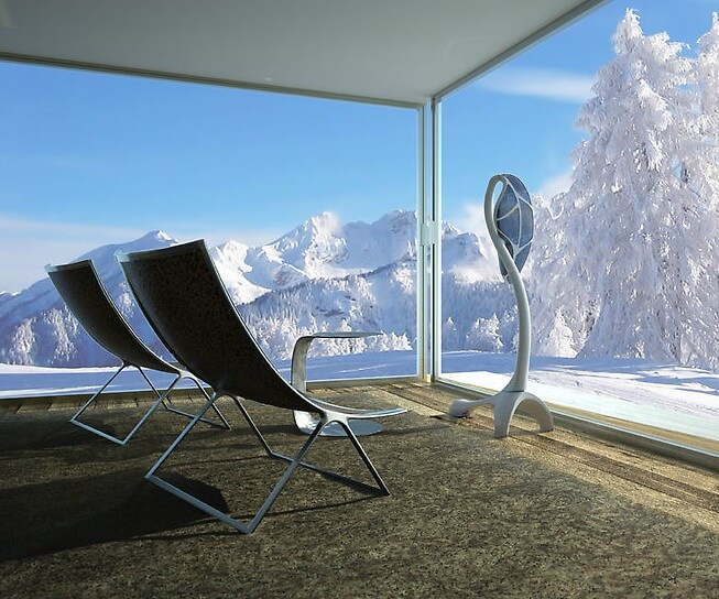 Modern living room with eco light design Futuristic Lighting Design to be Eco friendly Indoor and Outdoor