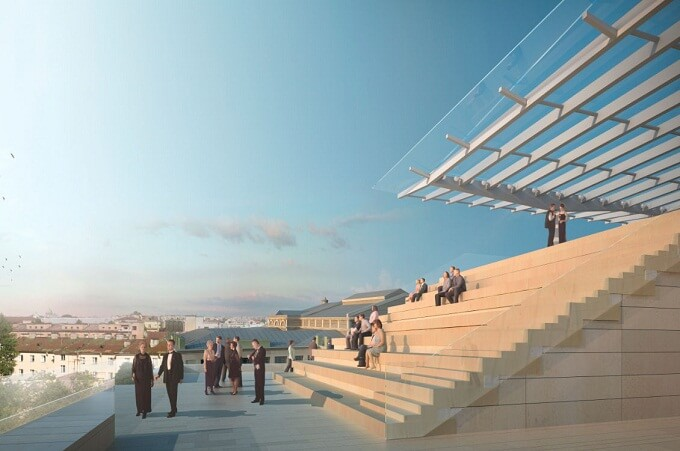 New opera house in Russia outside view1 New Mariinsky Theatre Opens in 2013 in St.Petersburg, Russia