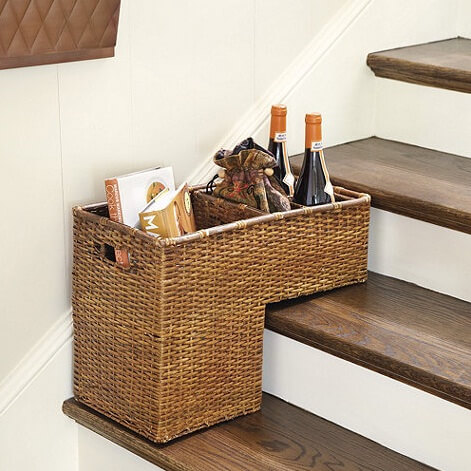 Ratan step basket European Inspired Interiors from Ballard Designs