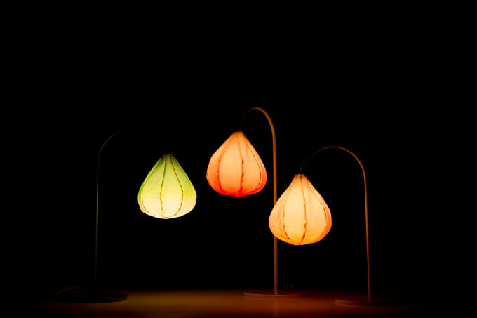 Three Bloom Lamps by Kristine Five Melvær Delicate Lamp Designs Inspired by Nature