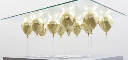 baloons under glass