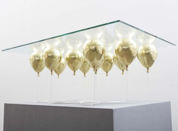 baloons under glass 600x442 Futuristic Coffee Table by Christopher Duffy