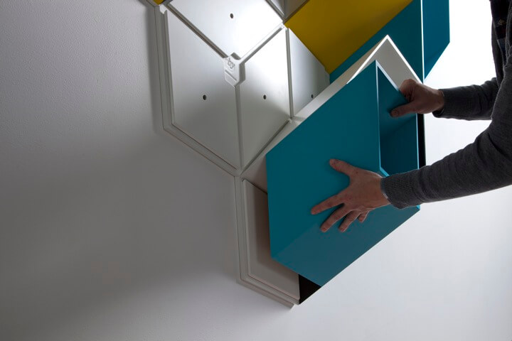 box shelv Optical illusion design for Imeuble storage by By  Corporation