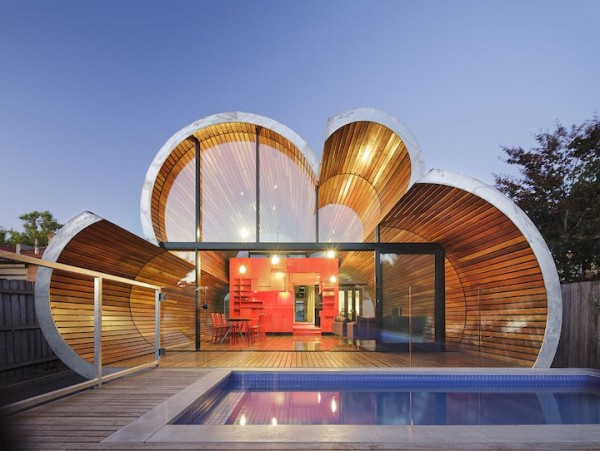 pool house 600x451 Cloud house architecture by McBride Charles Ryans