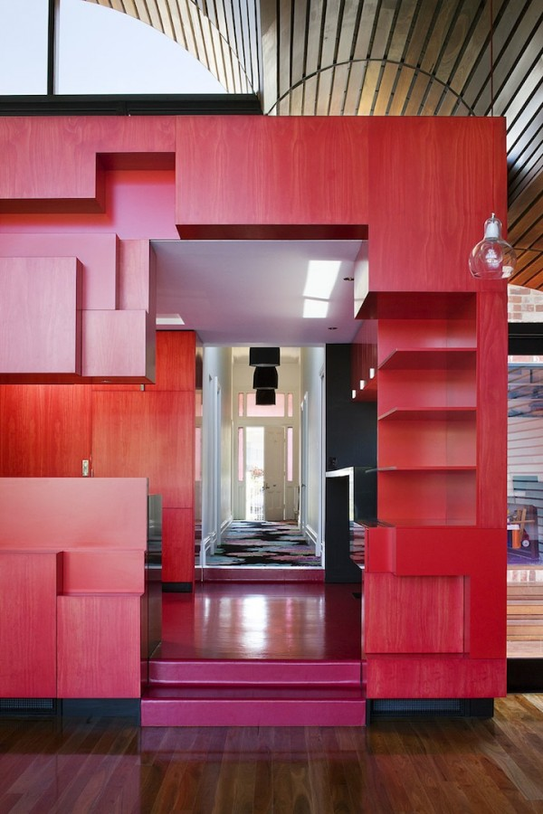 red furniture 600x900 Cloud house architecture by McBride Charles Ryans